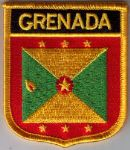 Grenada Embroidered Flag Patch, style 07.